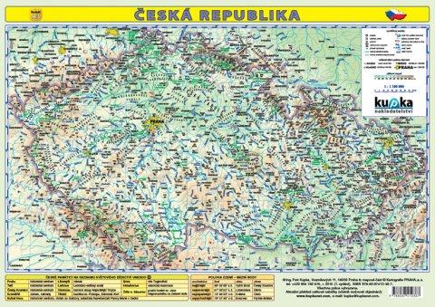 Kupka Petr: Česká republika - mapa A3 lamino