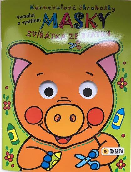 neuveden: Zvířátka ze statku - Karnevalové škrabošky Masky