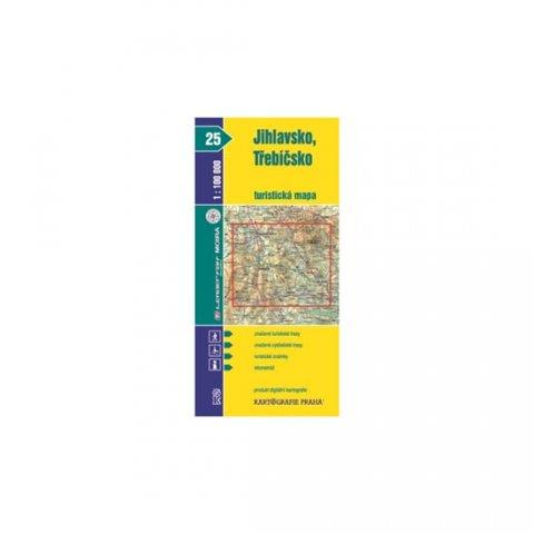 neuveden: 1:100T (25)-Jihlavsko,Třebíčsko (turistická mapa)