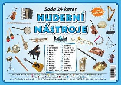 Kupka Petr a kolektiv: Hudební nástroje - Sada 24 karet