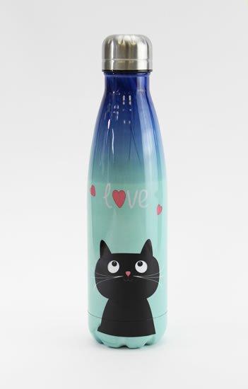 neuveden: Nerezová lahev Kočka