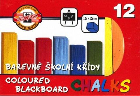 neuveden: Koh-i-noor křídy školní barevné 12 ks