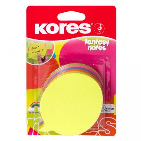 neuveden: Kores Neonové bločky 70x70mm DIALOGUE tvar bubliny, mix 5 barev