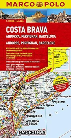 neuveden: Španělsko - Costa Brava/mapa