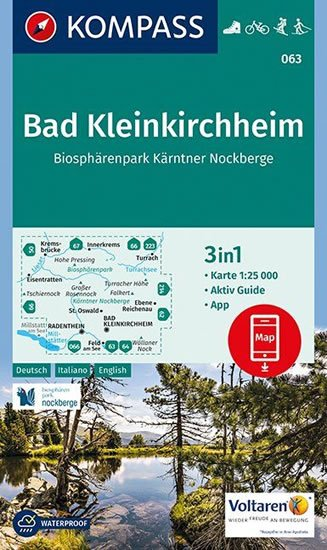 neuveden: Bad Kleinkirchhem, NP Nockberge  063  NKOM 1:25T