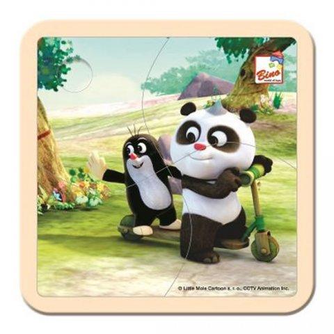 neuveden: Krtek a Panda: Koloběžka/puzzle, 4 dílky