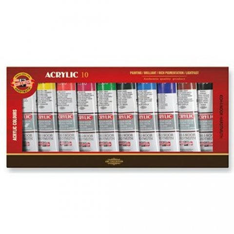 neuveden: Koh-i-noor barvy akrylové souprava 10 ks x 40 ml