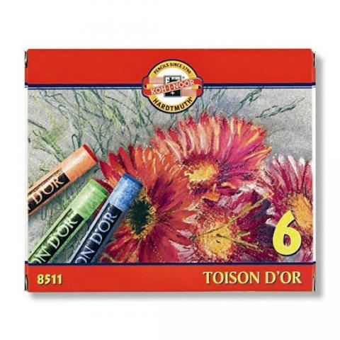 neuveden: Koh-i-noor křídy (pastely) prašné umělcké 10 mm Toison D´or souprava 6 ks