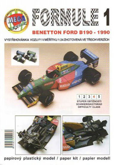 Antonický Michal: Formule 1: Benetton Ford B190 - 1990/papírový model