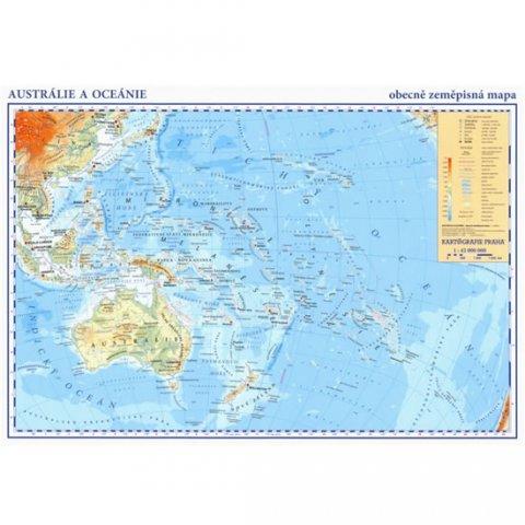 neuveden: Austrálie, Oceánie - příruční obecně zeměpisná mapa A3/1:42 mil.