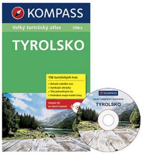 neuveden: Tyrolsko - Velký turistický atlas s CD