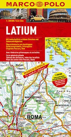 neuveden: Itálie - Latium/mapa