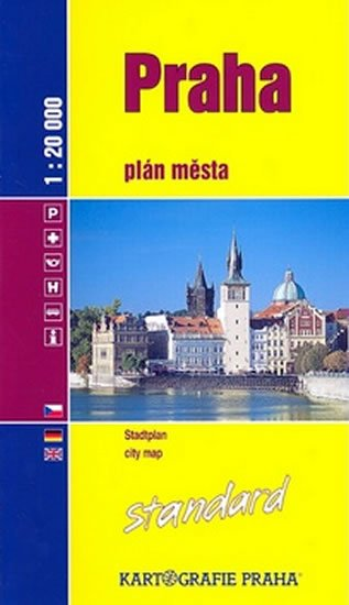 neuveden: Praha Standard: plán města 1:20 000