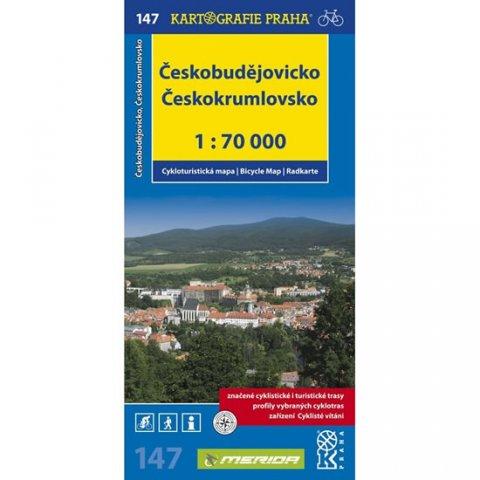 neuveden: 1: 70T(147)-Českobudějovicko (cyklomapa)