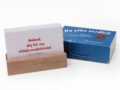 Chinmoy Sri: Na věku nezáleží / Inspirace pro stále mladé srdce - karty s dřevěným stojá