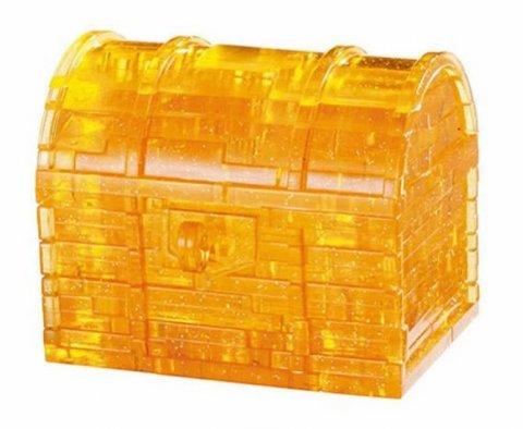 neuveden: Puzzle: Pokladnička truhla s klíčem /52 dílků 3D Crystal puzzle