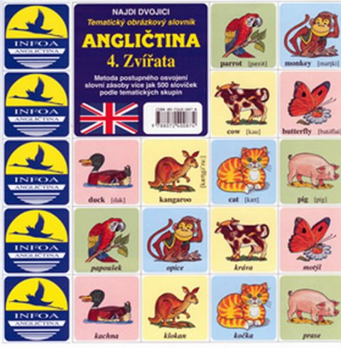 kolektiv autorů: Najdi dvojici - Angličtina - 4. Zvířata