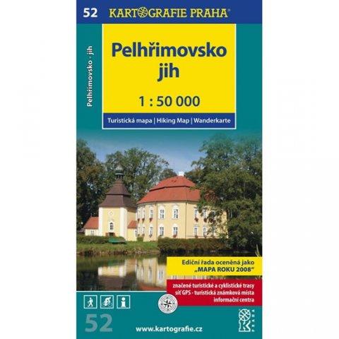 neuveden: 1: 50T (52)- Pelhřimovsko jih (turistická mapa)