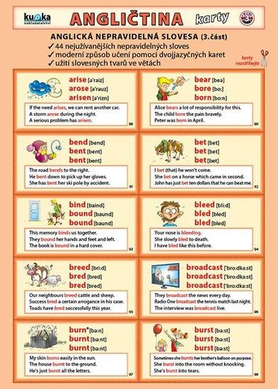 Kupka Petr: Angličtina karty 3 - nepravidelná slovesa