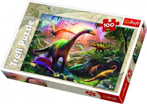 neuveden: Puzzle: Svět dinosaurů / 100 dílků