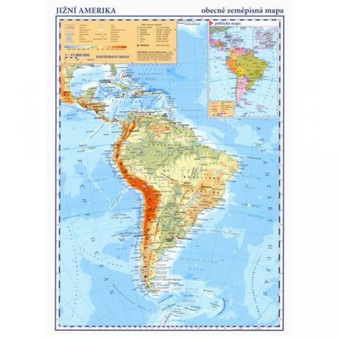neuveden: Jižní Amerika - příruční obecně zeměpisná mapa A3/1: 35 mil.
