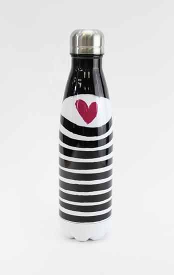 neuveden: Nerezová lahev Srdíčko - Lahve