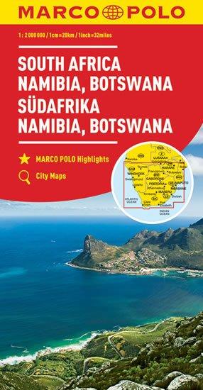 neuveden: Afrika - jih, Namibie, Botswana 1:2M   MD