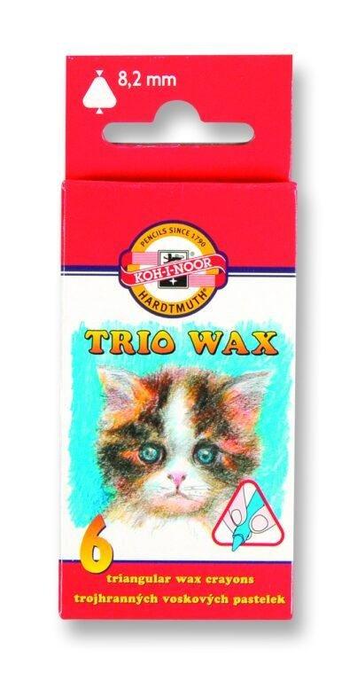 neuveden: Koh-i-noor voskovky TRIO WAX 6ks/8,2 mm