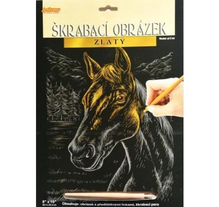 neuveden: ArtLover Sada Škrabací obrázek - zlatý 20,3 x 25,4 cm/mix 6 motivů
