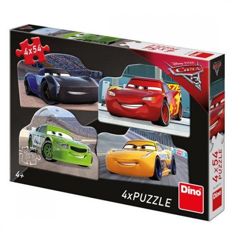 neuveden: Auta 3 - Rivalové: puzzle 4x54 dílků
