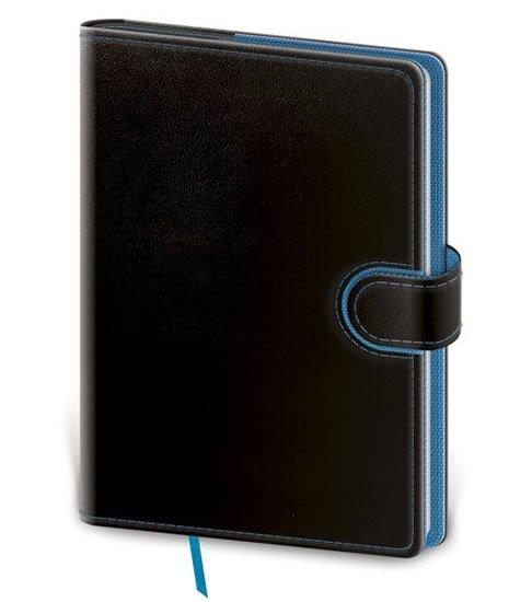 neuveden: Zápisník - Flip B6 linkovaný - černo/modrá