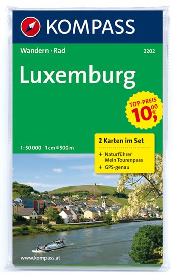 neuveden: Luxemburg 2202, 2 mapy / 1:50T KOM