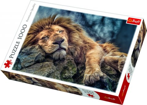 neuveden: Puzzle: Spící lev / 1000 dílků