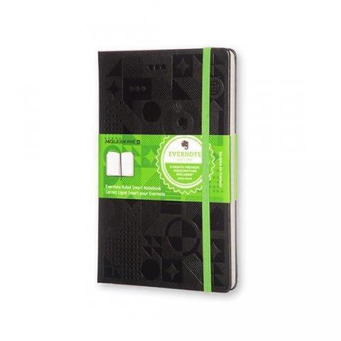 neuveden: Moleskine: Evernote zápisník linkovaný černý L