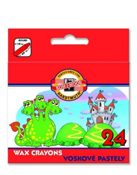 neuveden: Koh-i-noor voskovky WAX CRAYON 24ks