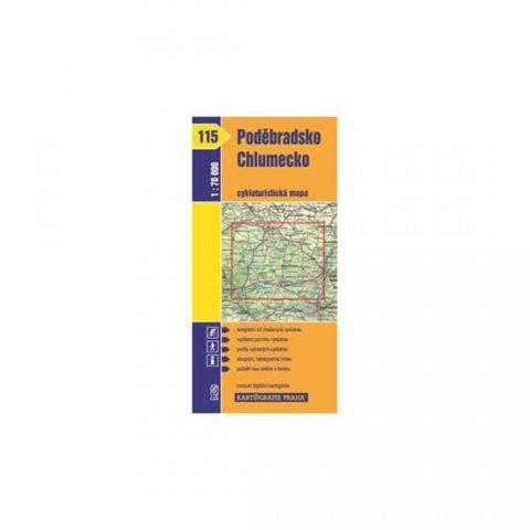 neuveden: 1: 70T(115)-Poděbradsko,Chlumecko (cyklomapa)