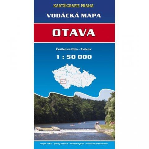 neuveden: Vodácká mapa - Otava/Čeňkova pila - Zvíkov/1:50 tis.