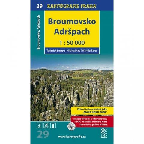 neuveden: 1: 50T (29)-Broumovsko, Adršpach (turistická mapa)