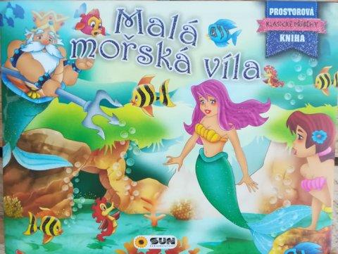 neuveden: Malá mořská víla - Prostorová kniha