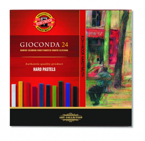 neuveden: Koh-i-noor křídy (pastely) olejové umělecké GIOCONDA souprava 24 ks