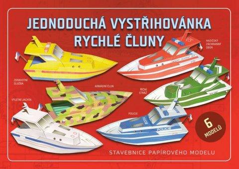 neuveden: Jednoduchá vystřihovánka rychlé čluny - Stavebnice papírového modelu