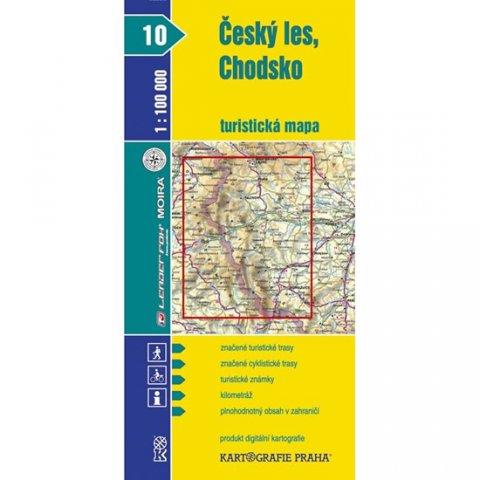 neuveden: 1:100T (10)-Český les,Chodsko (turistická mapa)