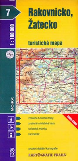 neuveden: 1:100T ( 7)-Rakovnicko,Žatecko (turistická mapa)