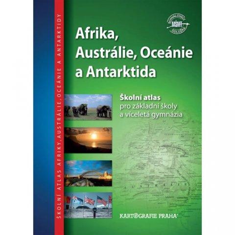 neuveden: Afrika, Austrálie, Oceánie, Antarktida - Školní atlas