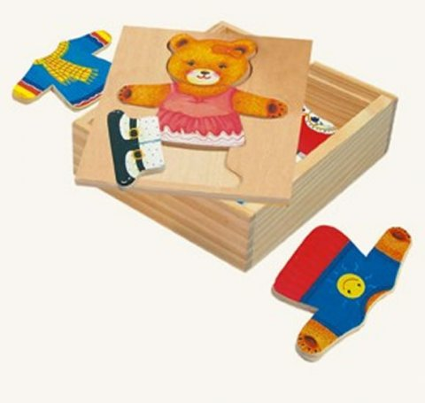 neuveden: Puzzle - šatní skříň - medvědice
