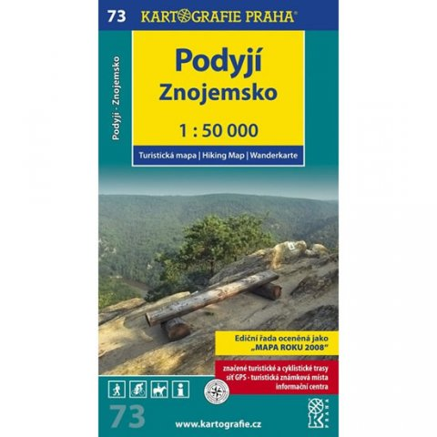 neuveden: 1: 50T (73)-Podyjí, Znojemsko (turistická mapa)