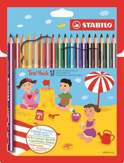 neuveden: STABILO Trio thick 18 ks kartonové pouzdro