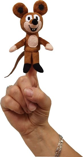 Miler Zdeněk: Myška  8cm - prstový maňásek (Krtek a kamarádi)