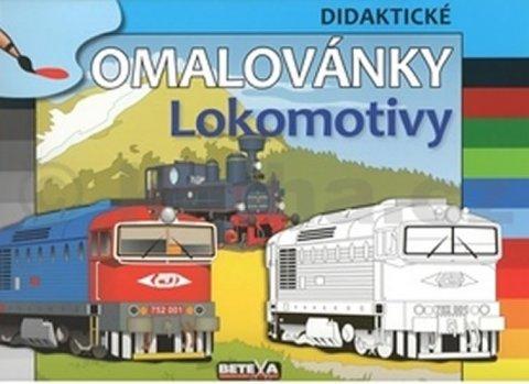 neuveden: Lokomotivy - didaktické omalovánky