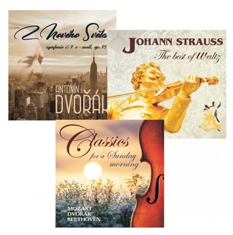 Dvořák A., Strauss J.: Komplet klasické hudby - 3 CD (A. Dvořák, J. Straus, Klasika pro nedělní rá